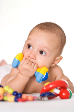 Nice baby with toys
